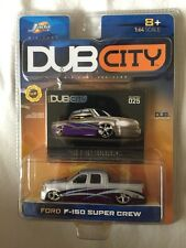 Jada Toys Dub City Ford F-150 Super Crew Silver/Purple Die-Cast 1/64 Scale