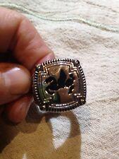 Large Stainless Steel Pegasus Crest Size 12 Men's Ring