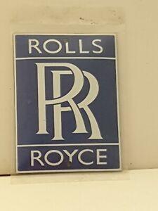 "Rolls Royce  Stove Enamel Sign Really Neat  3.5"" X 4.5""  pre holed  New. No26"