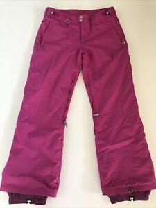 Roxy Snowpants Womens Size Large Ski Snowboard Pink Adjustable 5000