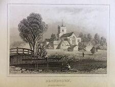c.1845 Print of A View of Broxbourne, Hertfordshire