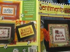 Mary Engelbreit Sentiments Cross Stitch Book-9 Designs & 4 Decorative Mats