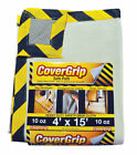 Covergrip  Light Weight  Canvas  Drop Cloth  4 ft. W x 15 ft. L
