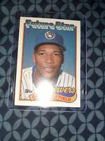 1989 Topps Baseball Card Gary Sheffield ROOKIE Milwaukee Brewers #343