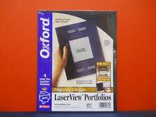 2 Packs of 4 Each Oxford Imperial Design LaserView Business Portfolios Black NIP