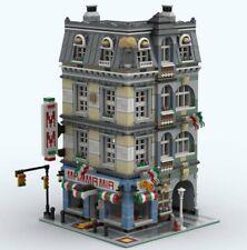 LEGO CUSTOM MODULAR INSTRUCTIONS MANUAL MAMMA MIA PIZZERIA PDF MOC M1 train city