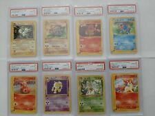 Pokemon card lot, psa 10 1st edition base set fossil japanese shadowless 1999