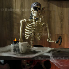 5ft Halloween Pirate Human Skeleton Bones Life Size Poseable Prop Decoration