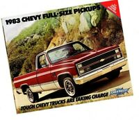1983 Chevy PICKUP Truck Brochure / Catalog with Color Chart:C10,C20,C30,K10,K20