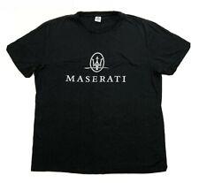 Vintage�Maserati Logo Luxury auto Automobile car Black T-Shirt Size Xl