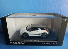 CITROEN DS3 RACING 2010 WHITE BANQUISE WITH GREY ROOF NOREV 155276 1/43 WEISS