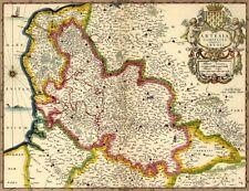 Reproduction carte ancienne - Artois XVIIè