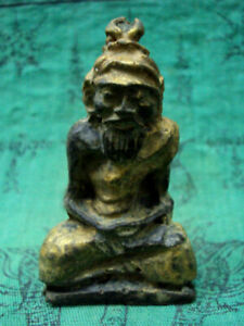 Hermit Statue Lersi Figure Luck Charm Healing Magic Shaman Talisman Thai Amulet