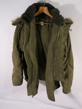 Abercrombie & Fitch VTG Men's M L Green Hooded Parka Jacket Coat A&F Type A 895