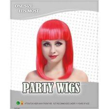 Perruques et toupets franges rouges sans marque pour femme