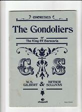 GILBERT & SULLIVAN Sheet Music Book - THE GONDOLIERS