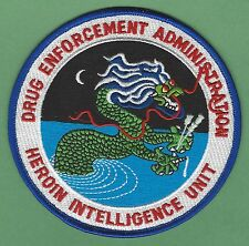 DEA DRUG ENFORCEMENT ADMINISTRATION HEROIN INTELLIGENCE UNIT POLICE PATCH