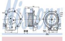 NISSENS Ventilador habitáculo MERCEDES-BENZ CLASE G C SL CLK 87111