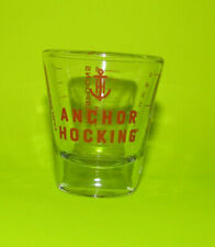 (Set of 2) Anchor Hocking Measuring Shot Glass 1 Ounce 6 Teaspoons 2 Tablespoons