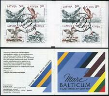 Latvia 332-335a booklet,CTO.Michel 340-343 MH 1. Birds of Baltic shores,1992.