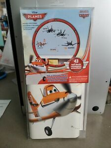 DUSTY FIRE AND RESCUE Airplane WALL DECALS Disney Planes Stickers Bedroom Decor