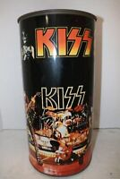 "Rare 1978 Aucoin Management KISS Band 19"" Metal Trash Can Waste Basket Vintage"