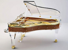 Full Crystal Grand Piano Handcrafted transparent Crystal Grand Piano luxury