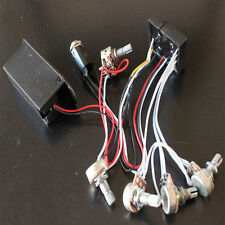 3 Band EQ Preamp Circuit Bass Guitar Wiring Harness For Active Bass Pickup-L016