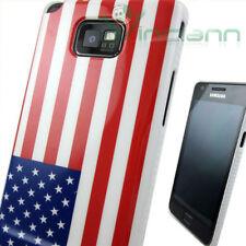 Custodia bandiera USA per Samsung Galaxy S2 i9100 S II