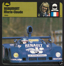 MARIE-CLAUDE BEAUMONT Race Car Driver BIOGRAPHY CARD