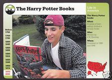 THE HARRY POTTER BOOKS J.K. Rowling History Photo 2000 GROLIER STORY CARD