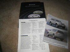 2002 Lexus Media Press Kit LS430 ES300 RX300 SC430 brochure catalog literature