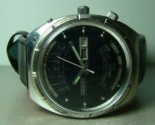 VINTAGE ORIENT AUTOMATIC DAY DATE MONTH WEEK YEAR WRIST WATCH P258 USED OLD RARE