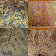 """L.A 1 Booklet = 25 sheets Variegated Leaf #11  5½/"""" x 5½/"""" Gold Leaf"""