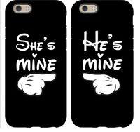 Fundas Minnie Mickey Disney She / He is Mine.PARA TODOS LOS MODELOS DE IPHONE !
