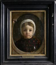 1841 FRENCH OIL ON CANVAS PORTRAIT OF BOY HORACE - PAUL DELAROCHE - TO RESTORE