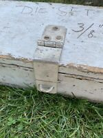 Antique Vintage Carpenters Primitive Wooden Machinist Tool Box