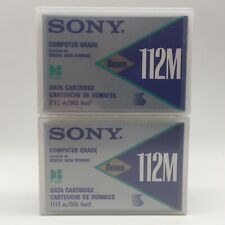 More details for 2x sony d-eight d8 data cartridge 8mm 112m - new & sealed
