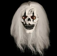 Scary Skeleton Skull Mask White Hair Horror Halloween Fancy Dress Unisex Mask