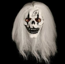 Scary Skeleton Skull Mask White Hair Horror Halloween Fancy Dress Unisex Mask