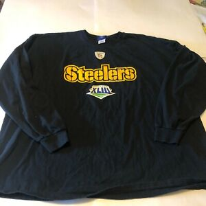 NFL Pittsburgh Steelers Super Bowl XLIII Reebok 2XL Long Sleeve shirt EUC
