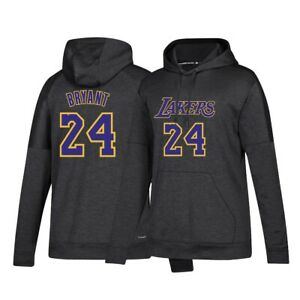Kobe Bryant Adidas Los Angeles Lakers Team Issue Climawarm Black Hoodie Women's