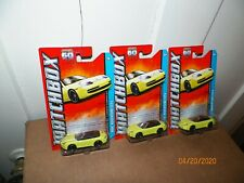 3 2013 Matchbox Porsche 911 Carrera Cabriolet Yellow - MBX Adventure City