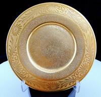 """STOUFFER STUDIO BAVARIA DAISY AND SCROLL GOLD STIPPLED 6 1/4"""" SIDE PLATE"""