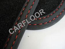 Für Mercedes C-Klasse Cabrio A205 Fußmatten Velour Deluxe schwarz Doppelnaht rot