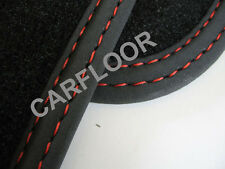 Für Kia Optima Bj. ab 9.2016 Fußmatten Velour Deluxe schwarz Doppelnaht rot