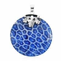 Sponge Coral Pendant 925 Sterling Silver Gift Jewelry for Women