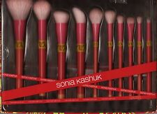 Sonia Kashuk Limited Edition Color Shock 10 piece makeup brush set NIB