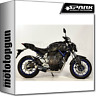 SPARK ESCAPE COMPLETO FORCE RACING ACERO NEGRO YAMAHA MT 07 2016 16