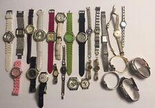 Women's Watch Lot Of 27 Watches Timex Quartz Fossil Geneva